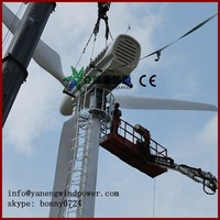 electric variable pitch wind turbine 50kw 60kw, rated rotation speed 60rpm,on-grid system wind turbine