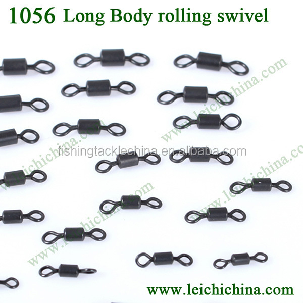 High quality carp fishing terminal tackle long body rolling swivel