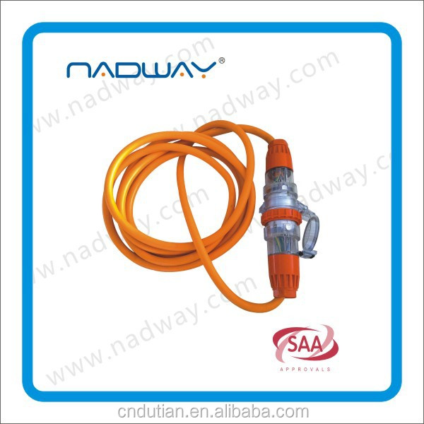 SAA extension lead, SAA power lead, SAA extension cord with braided cable