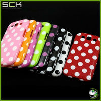 Lovely Polka Dot TPU Skin Case Cover For Samsung Galaxy S3 I9300-hotpink