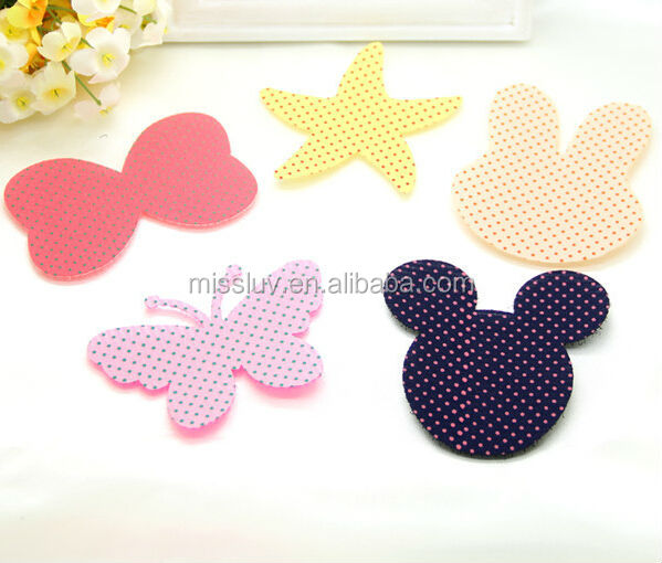 various cartoon velcro hair fringe holder lovely polka dot magic bang sticker clip cheap posted magic belt hair accessories gift