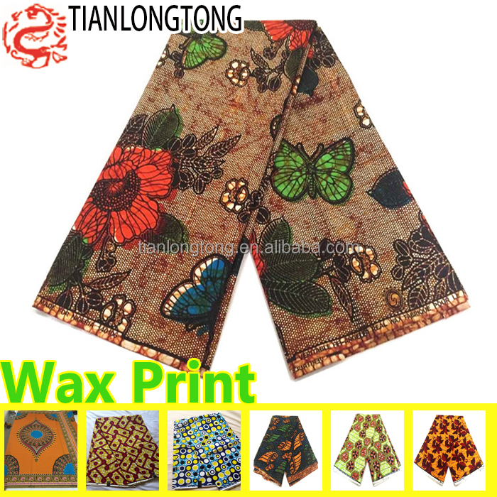 batik style african java wax print fabric 6 yards hollandais fashion designs