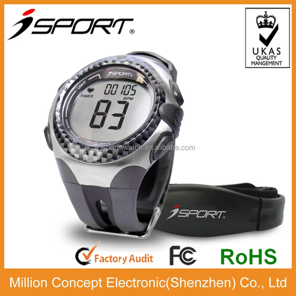 Hot sale heart rate watch monitor with chest strap 5.3K OEM logo printing