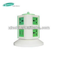electrical multi vertical socket USB outlet 5v 1.5a usb charger adapter