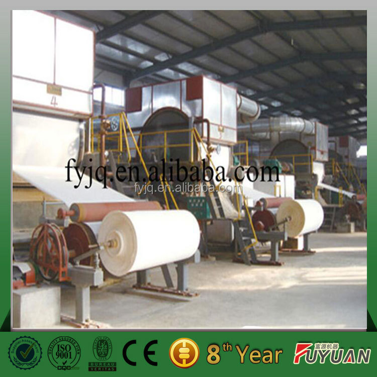 High efficiency toilet paper recycling machine/paper pulp making equipment/small toilet roll machinery