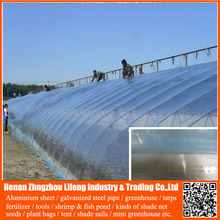 Best seeling plastic agricultural greenhouse with 3 layer plastic 100% virgin hdpe anti uv woven greenhouse film for 2-8 years