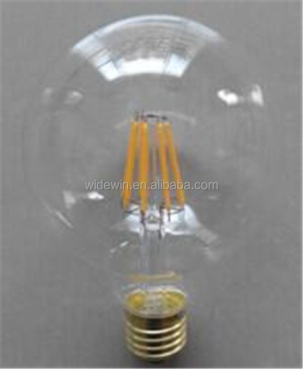 Round led lighting bulb with murano glass pendant lights E26