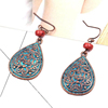 Distressed spot pattern engraving cheap alloy earrings