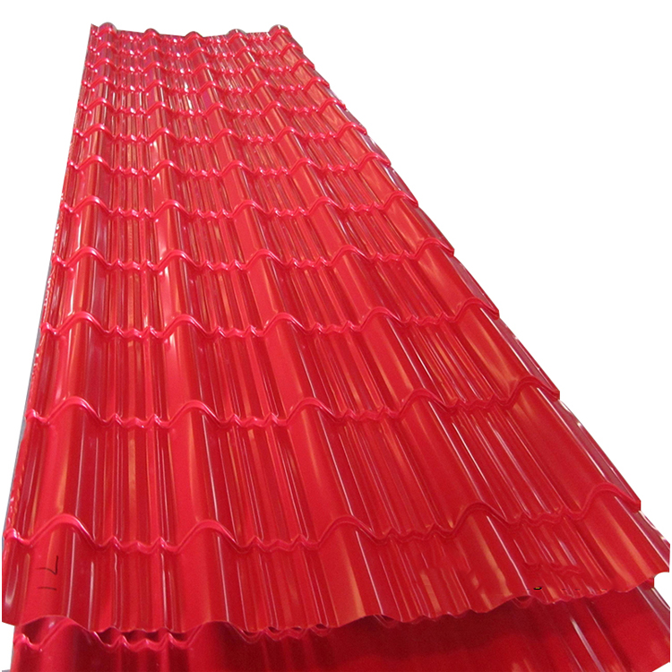 Red rolled steel structure long span roof pc roofing sheet prices