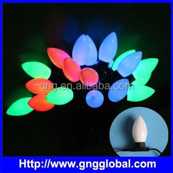 Color changing led christmas lights 3D leaf shape string light