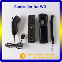 2016 Video Games 6 Colors 2 in 1 motion plus remote nunchuck for wii controller