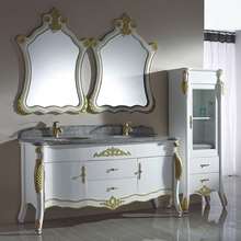Factory Manufacturing Bathroom Furniture Cheap Bathroom Double Bowls Vanities