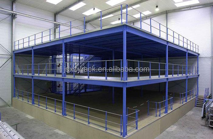 Mezzanine Platform System : Multi level heavy duty mezzanine platform storage system