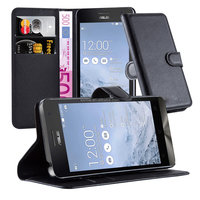 High Quality Lichee Pattern Phone Case Cover With Stand Card Slots For Asus Zenfone 5