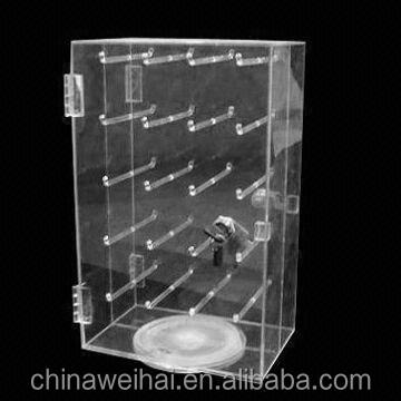 Clear Rotating Acrylic Keychain Display Rack