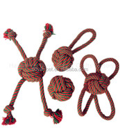 Customized good qulaity rope ball pet toy dog chewing toy