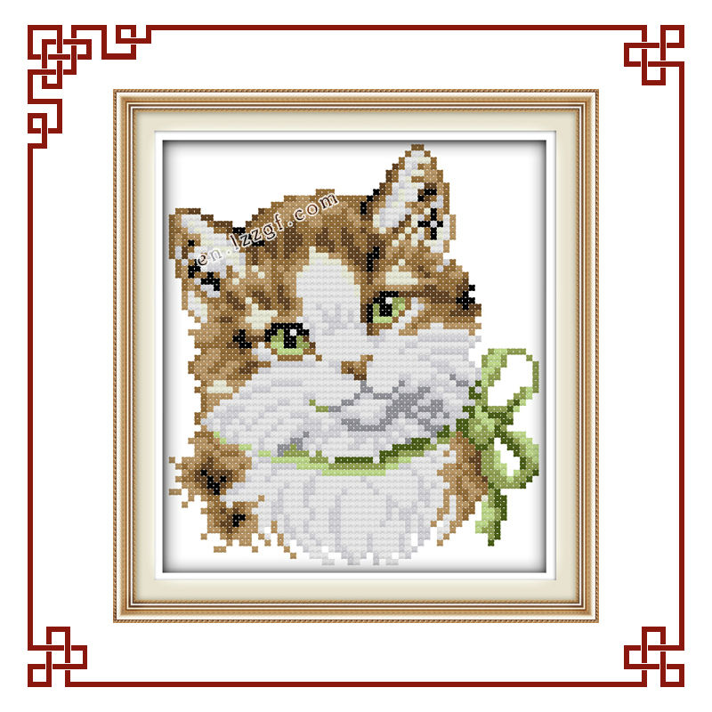 NKF A lovely cat sister cross stitch