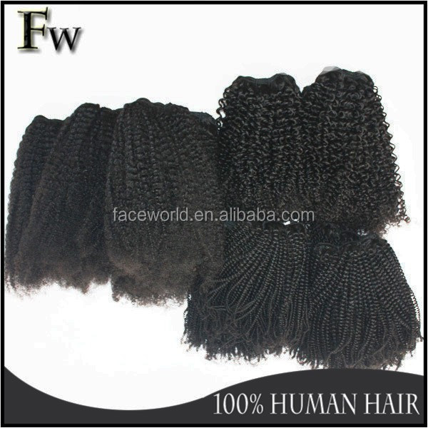 Free samples new style 4c tight curly hair 100% virgin real girl hair weaving raw unprocessed brazilian afro kinky human hair
