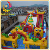 outdoor cheap inflatable amusement park for sale