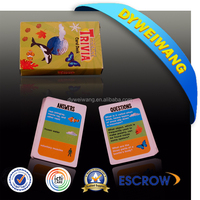 Professional supplier print and play card games with CE certificate