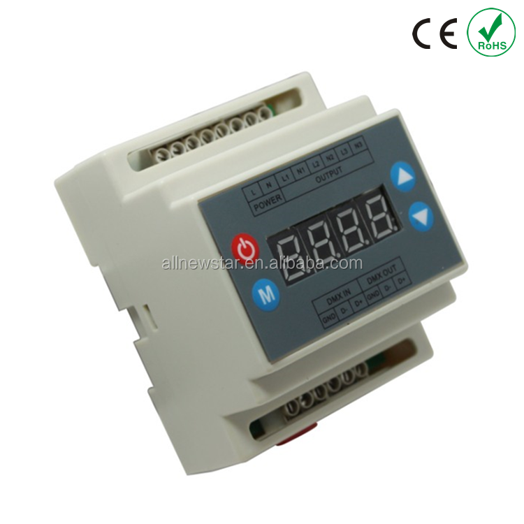 3 channels 0-10v led dimmer controller,AC90-240V 3 channels 0-10V output signal 0-10v dimmer,DMX dimmer controller for LED strip