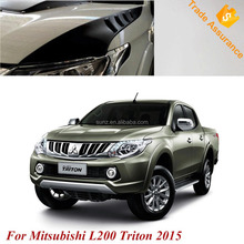 Side Bonnet Cover Front Hood Guards Cover Black For Mitsubishi L200 2015 Triton 2016 Pickup New