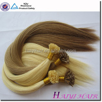 Virgin Remy Hair,Fast Delivery Human Hair russian pre bonded hair extensions remi cachet