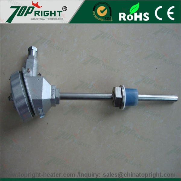 China Made Pt100 Resistance thermometer Sensor with Aluminum Head