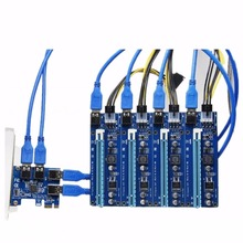 PCI 1 to 4 PCI E express 1X to 16X slots Riser Card Mini ITX 1X to external 2 3 4 PCI-E slot adapter PCIe Port Multiplier Card