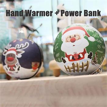 2016 latest 2 in 1 Hand Warmer Power Bank Ball 6000mAh for Christmas Gift