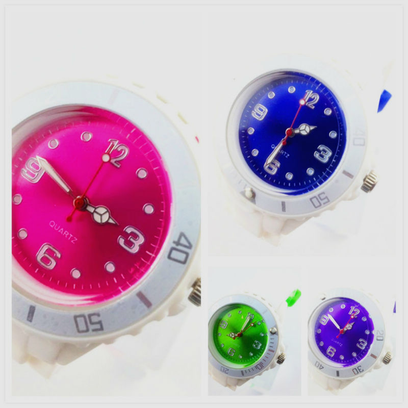Promotion multicolor silicone watch for teenage
