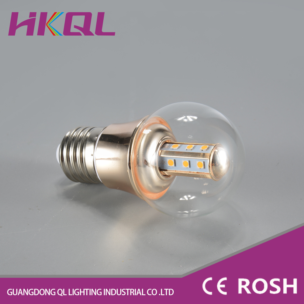 China suppliers wholesale transparent glass outdoor 5.8w led light bulb covers