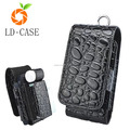 Proable Patent leather Stone Grain Waist mini Pocket Bag Case for IQOS