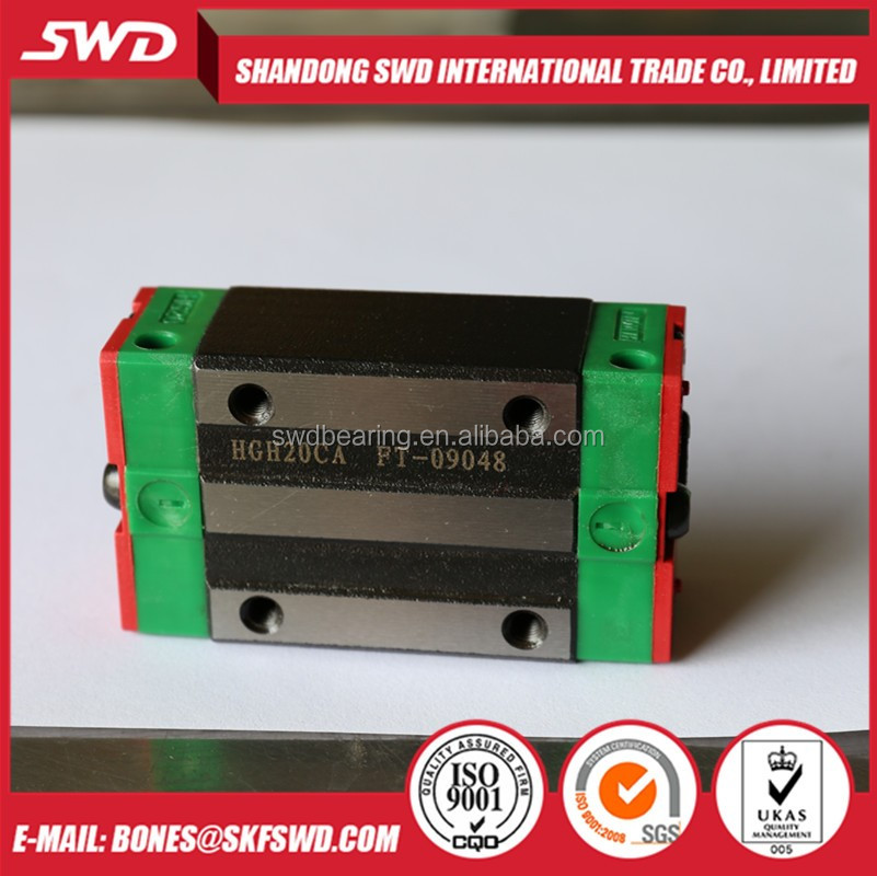 HGH20CA Taiwan HIWIN HGH20 four holes linear guide slider rails block bearing