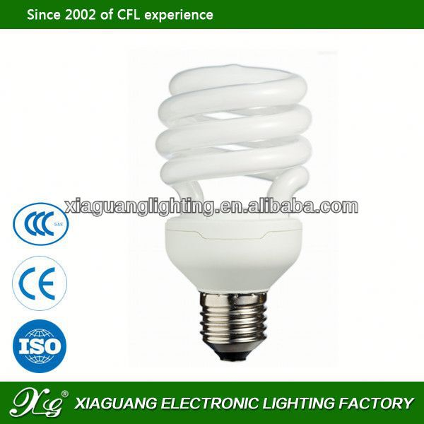 China Super E27 18W Half Spiral energy saving lamps circuit