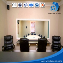 Magic 4mm, 5mm, 8mm,12mm silver coating one way mirror glass for interrogation room of police office, court