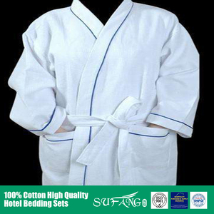 Hotel linen/Softextile cheap wholesale terry men/women 100% cotton waffle hotel bathrobe