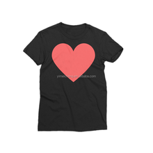 Sweet fresh pure cotton simple comfortable love print T-shirt