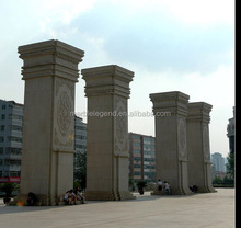Palace and villa exterior fence wall decoration chinese outdoor granite stone column