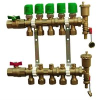 brass underfloor water heating manifold and control distribution Equipment System