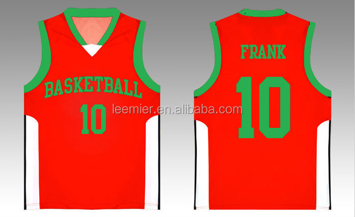 100% polyester dry fit basketball jersey