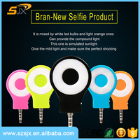 3.5mm 8 LED Selfie Sync Flash Light RK07 For All Smartphone
