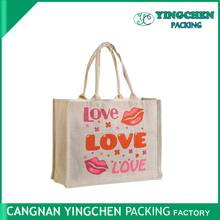 Factory direct Cheap printed eco-friendly custom jute shopping bag
