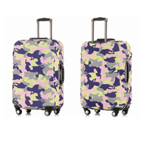 Elastic spandex protective travel bag luggage cover, sublimation floral flower trolley carry on cabin suit case suitcase cover