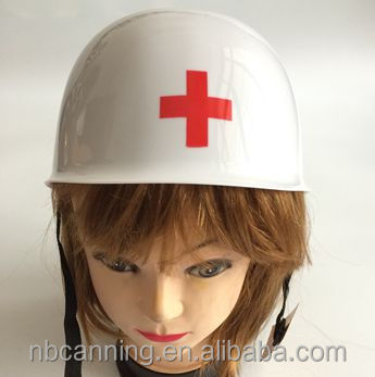 carnival hat / carnival party plastic helmet rescu hat / white toy helmet police hat