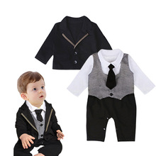GR022 Baby Clothes 2017 New Design Gentleman Suit For Toddler Boys Clothing Set