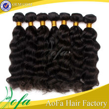 various texture natural black indian remy hair ponytail