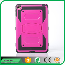 Heavy duty Shockproof Durable Full Body Protect Hybrid Case with Belt Clip Holster Kickstand case for ipad mini4 cover