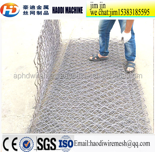 Hot sale factory best price 250g/m2 zinc coating galvanized hexagonal Gabion box flood control retaining wall
