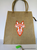 Wholesale Embroidered Jute Tote Bag With Windows Burlap Wine Carry Bags Durable Eco Friendly